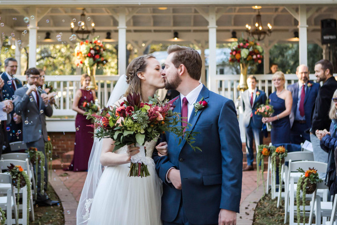Payne-Corley House Fall Wedding at Pavillion