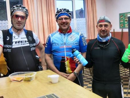 Ce 12 mai , Hans, Eric et Pilou réalisent le BRM 300 km des Audax de Tournai. Félicitations à eux!