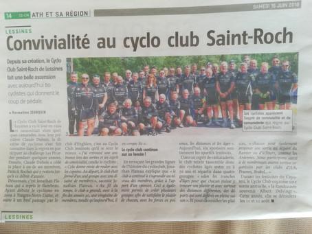 Cyclo Saint Roch à la une....
