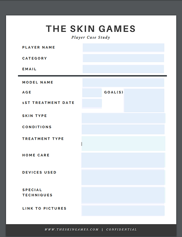 The Sk Games | Player Case Study Sheet