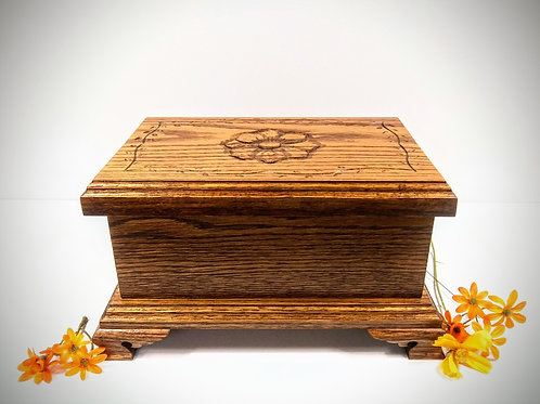 Red Oak Keepsake Box