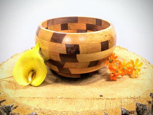 Three wood species Bowl.