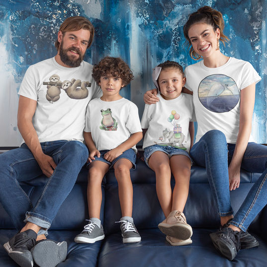 mockup-of-a-beautiful-family-wearing-t-s