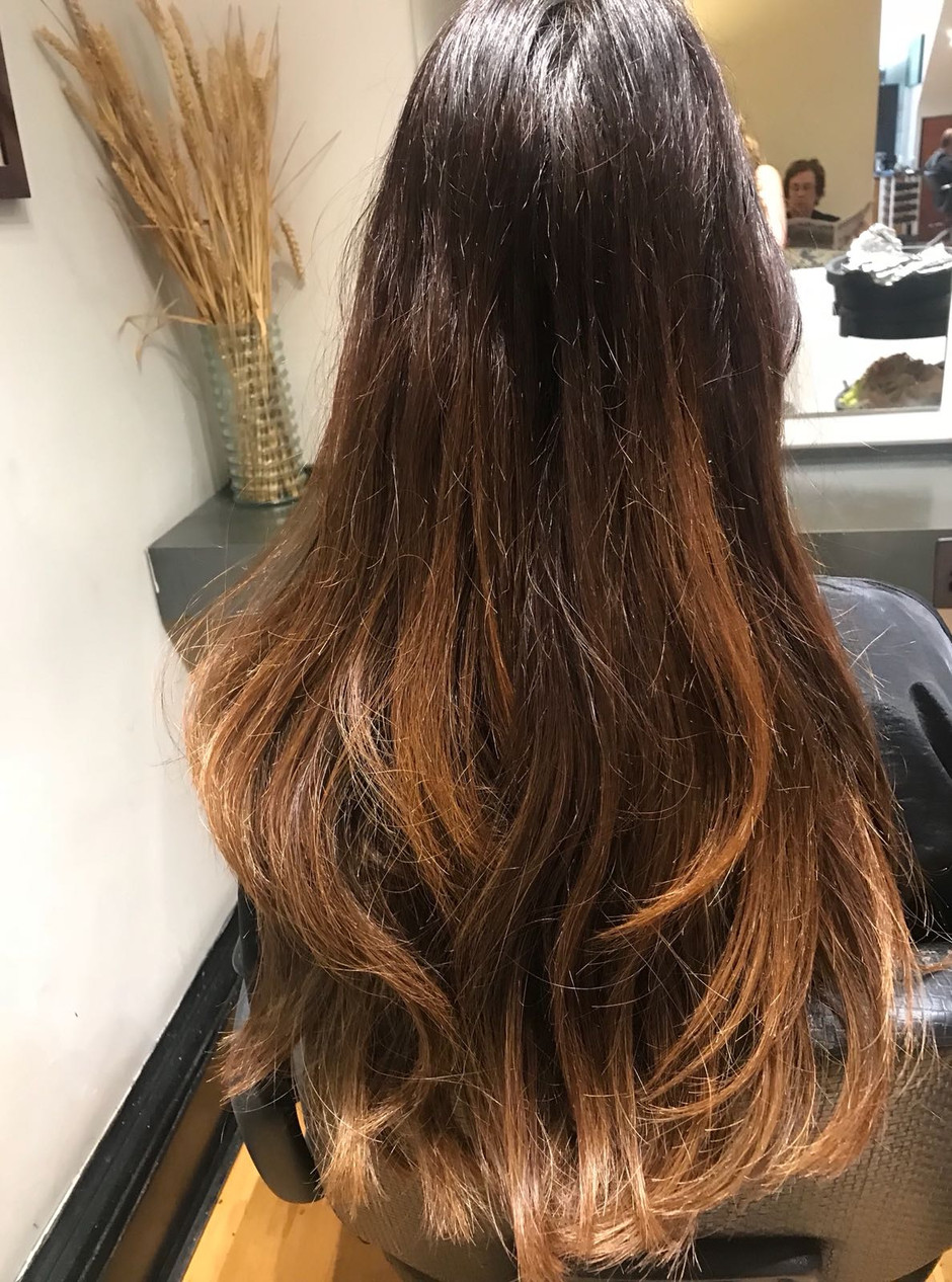 Creativity by Helen on this salon client wanting a change and brighten up for the summer with balaya