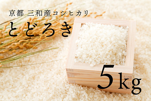 【絶賛出荷中】京都 三和産コシヒカリ「とどろき」5kg(2020年度新米)