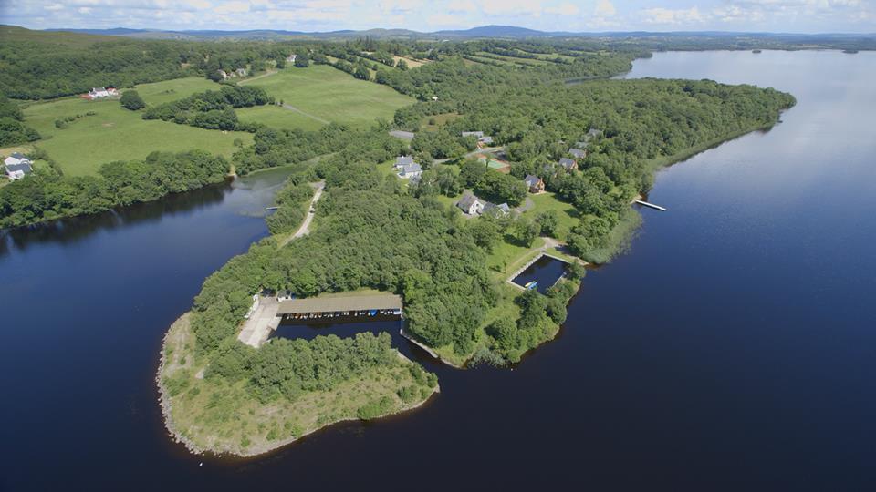 Aerial view of Finn Lough Resort