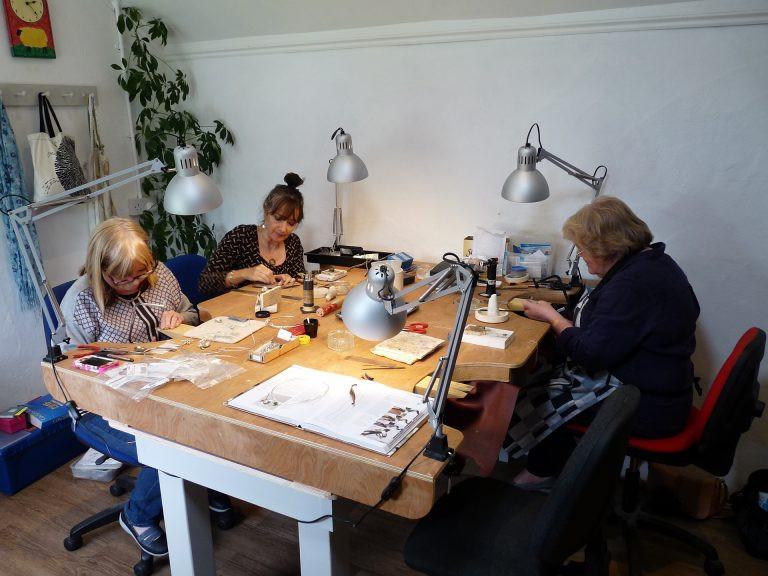 Jewellery class at work