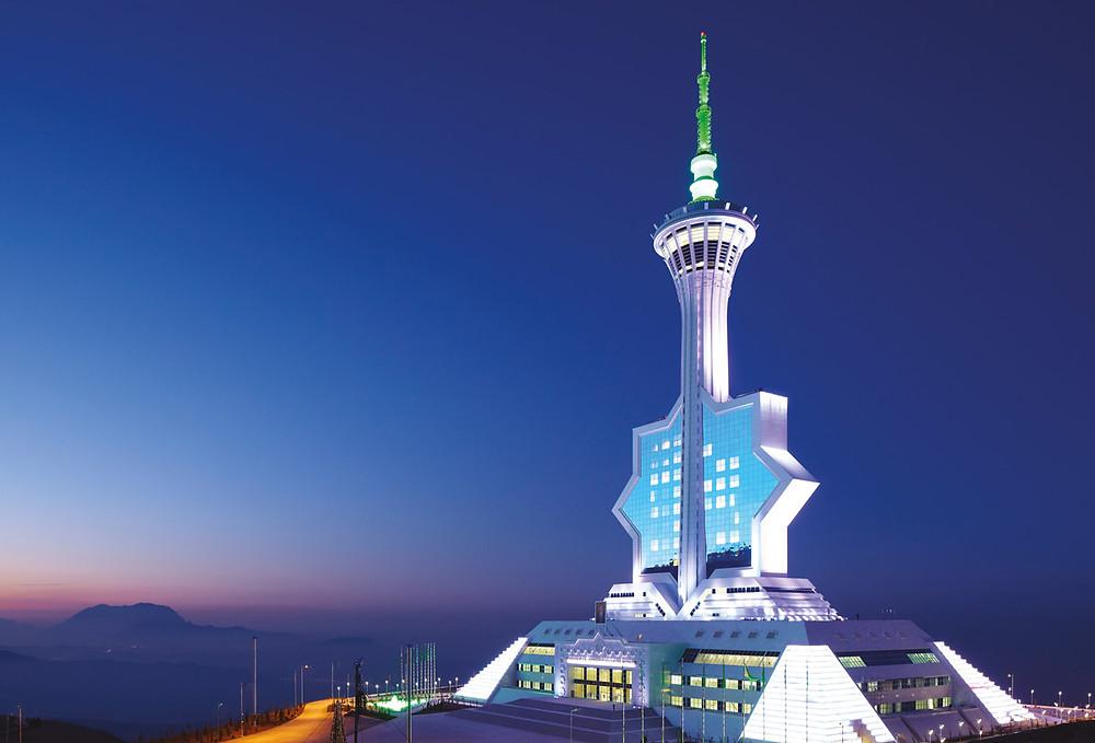 Телевизионная башня Ашхабада. Фото Polimeks Inşaat