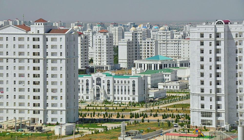 Белый город Ашхабад. Фото Nurmyrat Annageldiýew