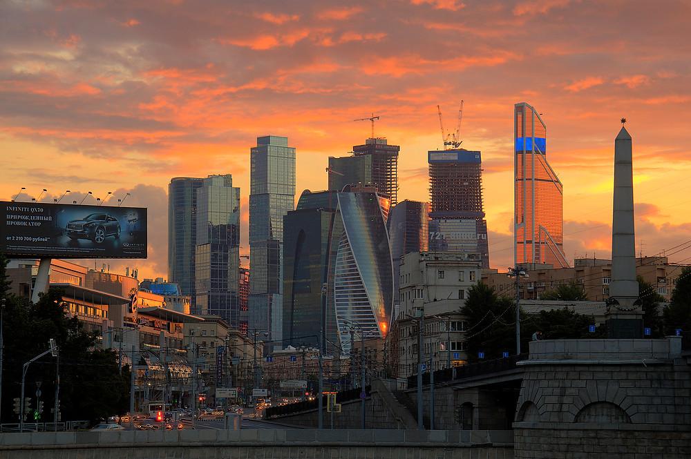 Вечерняя Москва. Москва-Сити. Фото Pavel Kazachkov, Flickr (c)