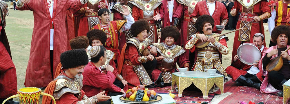 Празднование Новруза. Туркменистан.