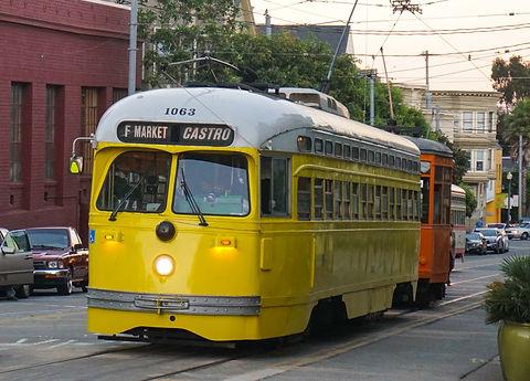 Исторические трамваи в Сан-Франциско