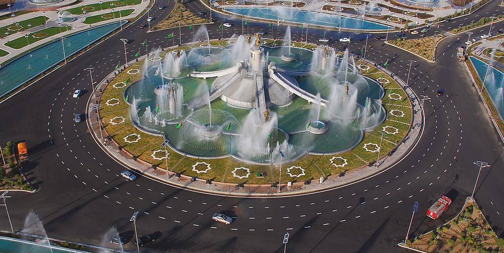 Комплекс фонтанов «Огузхан и сыновья». Фото Polimeks Inşaat