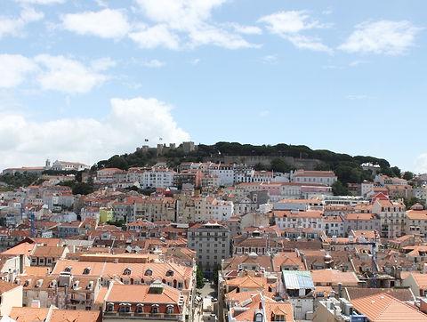 Вид на Замок Святого Георгия