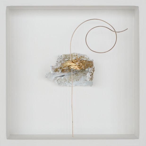 Michael Lerche, o.T. 034, Rinde, Metall,