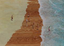 Andreas Scholz, Strand an der Côte d'Azur