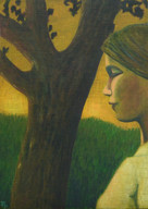 Andreas Scholz, Mädchen und Baum