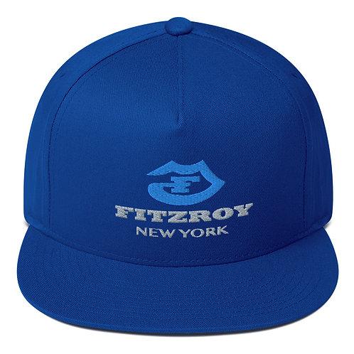 Blue Fitzroy New York Flat Bill Cap