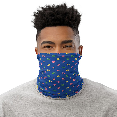 Blue Fitzroy New York print Neck Gaiter