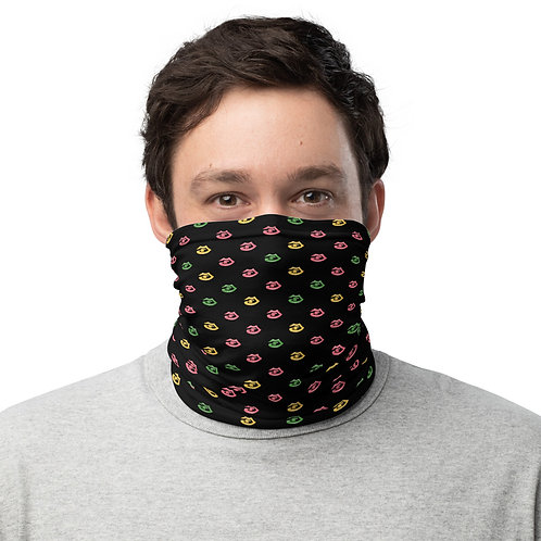 Black Fitzroy New York print Neck Gaiter
