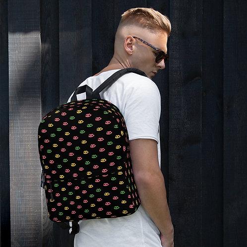 Black Fitzroy New York print Backpack
