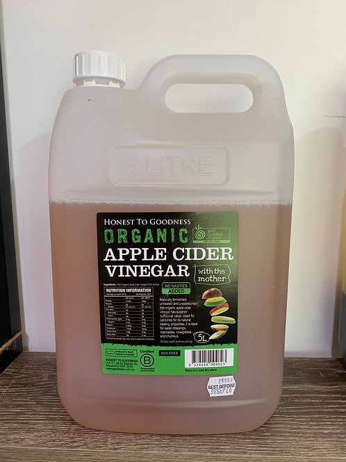 Certified Organic Apple cider Vinegar with the mother