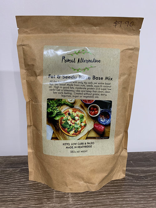Primal alternative Fat and seedy pizza base mix