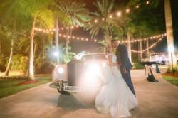 wedding photo with rolls royce