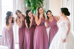 The moment when the bridesmaids see the