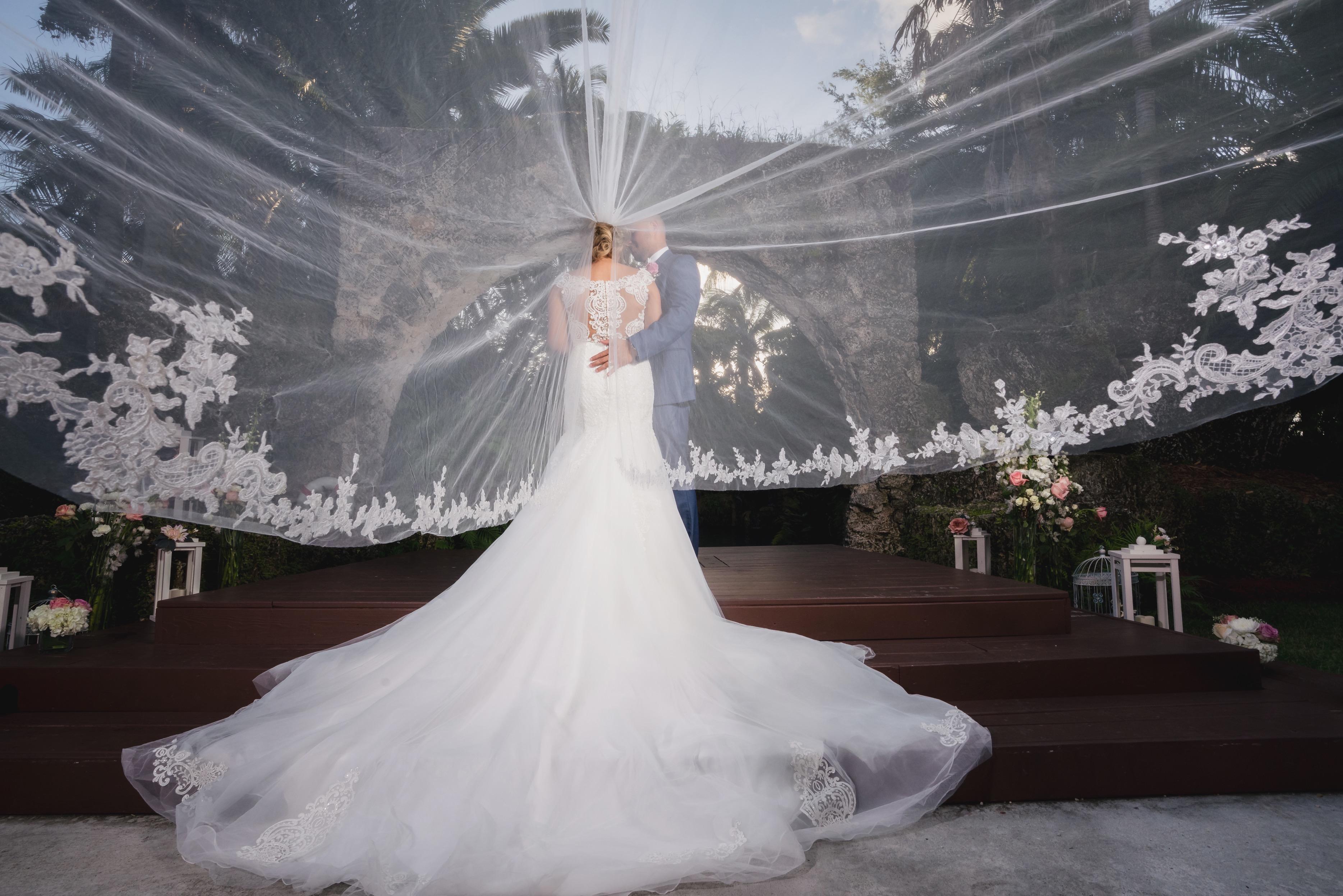 bride under the veil