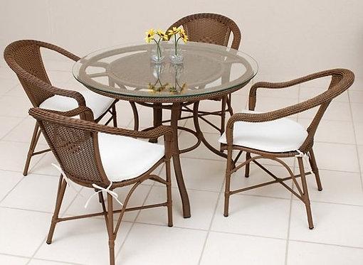 Jogo de mesa c/4 cadeiras de jardim