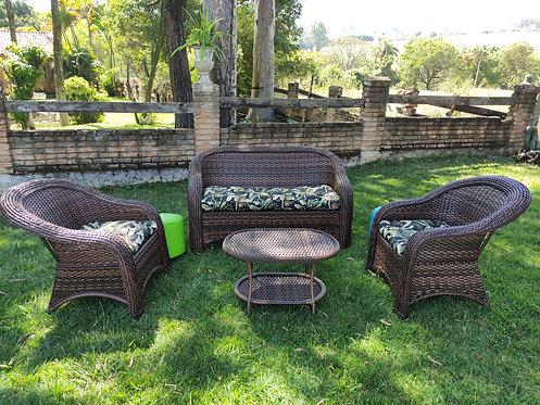 Jogo de sofá para jardim