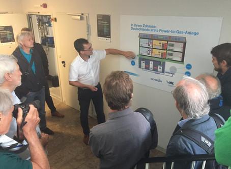 Isarwatt besucht innovative Power-to-Gas-Anlage