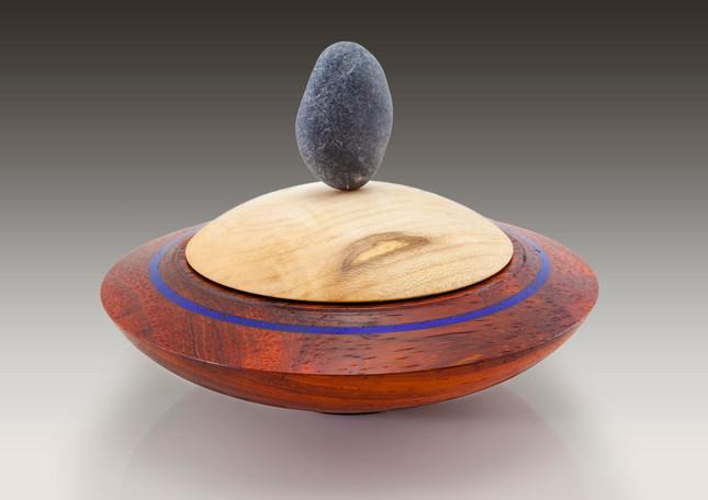 Paduk, Maple, Lapiz & stone box