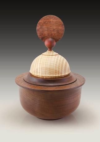 Mahogany, maple box