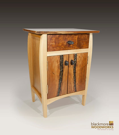 Cherry & Maple bedside cabinet