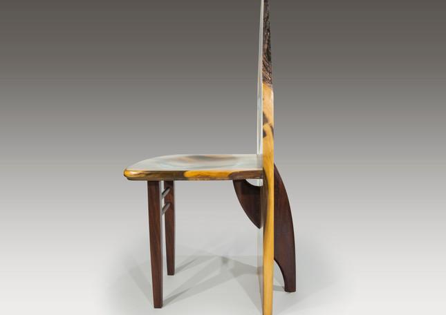 Surf board, shark bite chair