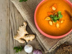 Sopa creme de abobora e cenoura