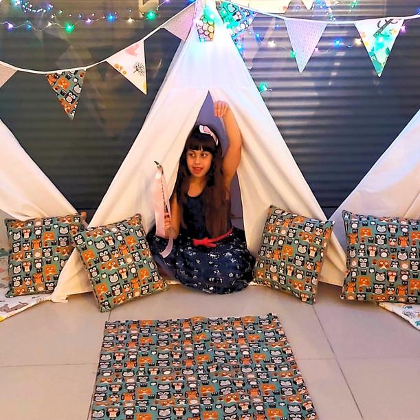 מסיבת פיג'מות אוהלים