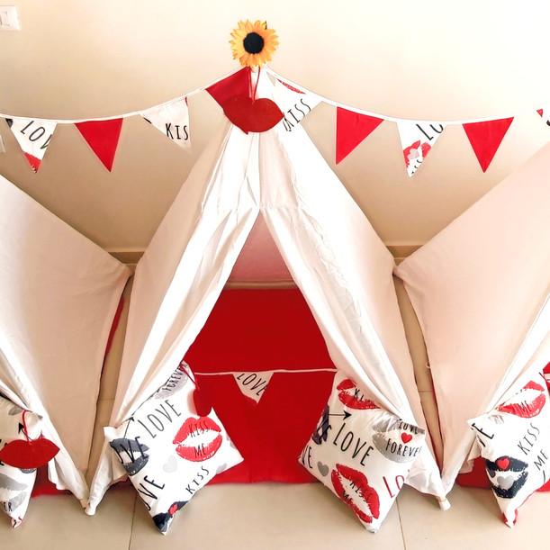 השכרת אוהלי טיפי לימי הולדת ומסיבת פיג'מות