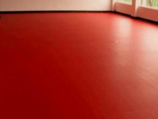 """משטח מרכזי מPVC גוון אדום מבריק 4 מ""""ר"""