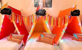 אוהל טיפי ליום הולדת