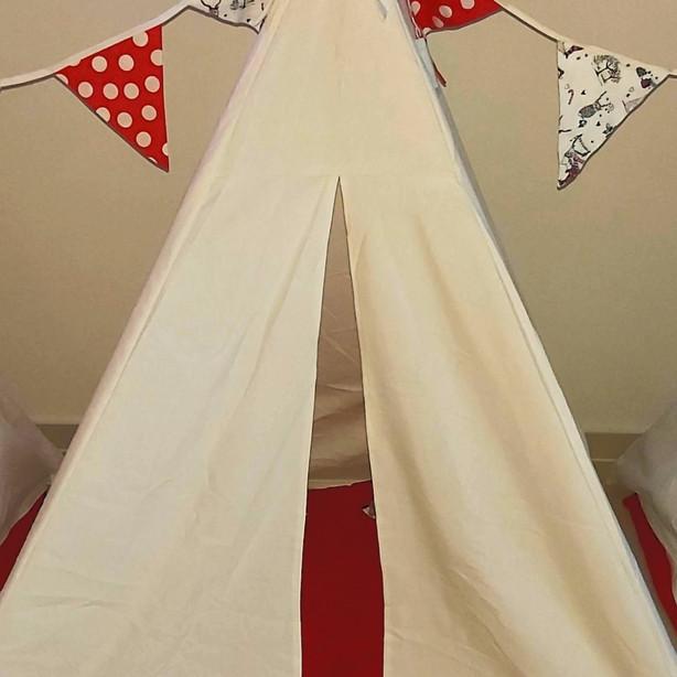 אוהל טיפי צבע לבן