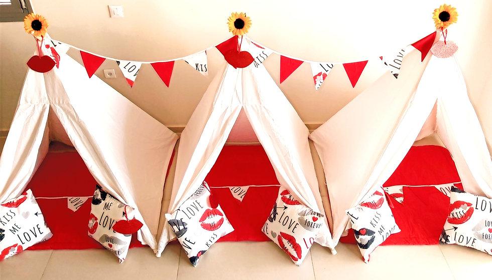 אוהלי טיפי ליום הולדת אלף נשיקות