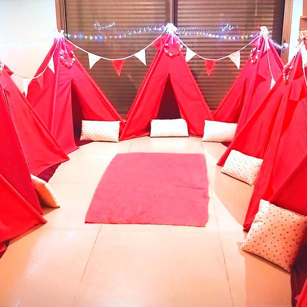 יום הולדת אוהלים
