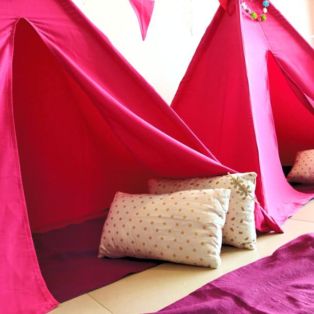 השכרת אוהלי טיפי למסיבת פיג'מות