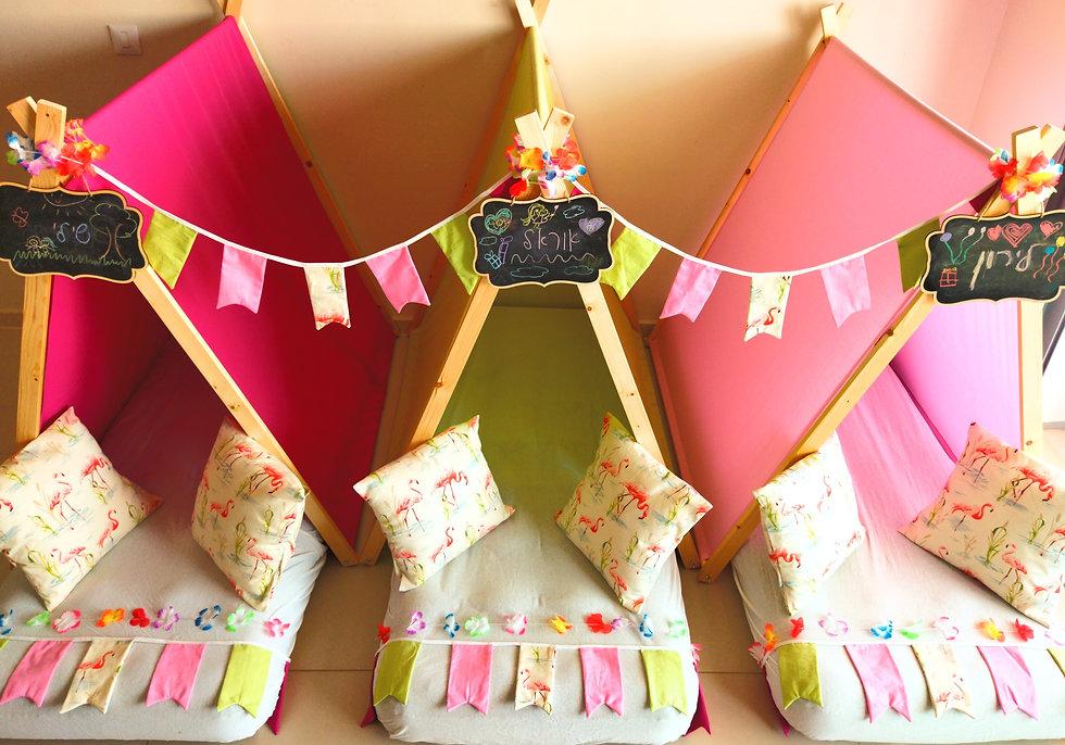 יום הולדת אוהלים פלמינגו