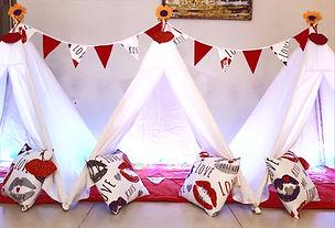 יום הולדת אוהלי טיפי לילדים מסיבת אלף נשיקות