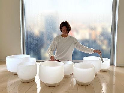 Tokyo rain crystal bowls
