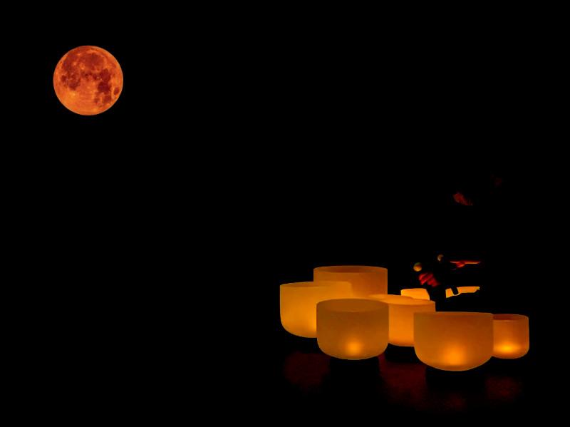 Moonlight crystal bowls